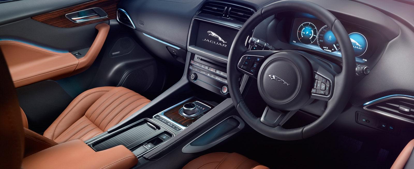 Interior of Jaguar F-Pace