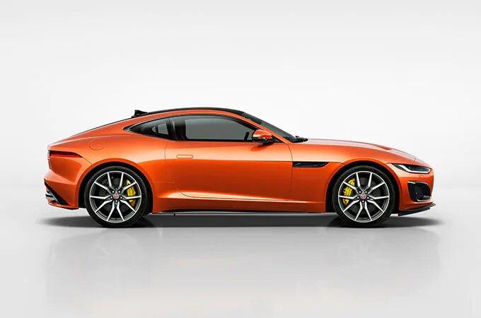 Orange Jaguar F-Type