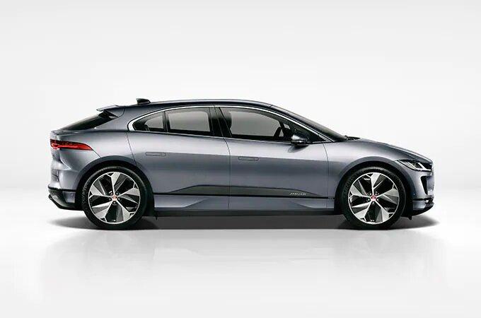Silver Jaguar I-Pace