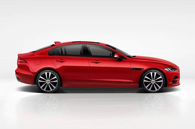 Red Jaguar XE