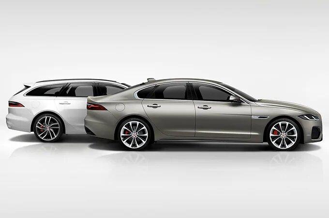 White Estate Jaguar XF and Silver Saloon Jaguar XF