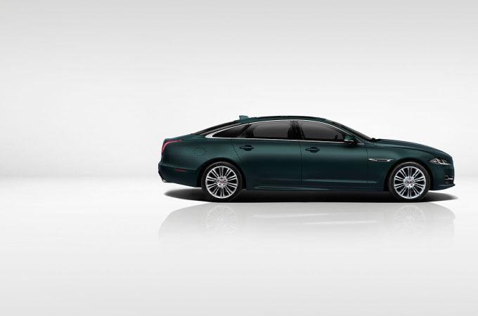 Blue Jaguar XJ